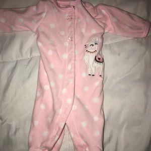 Baby girl warm onesie
